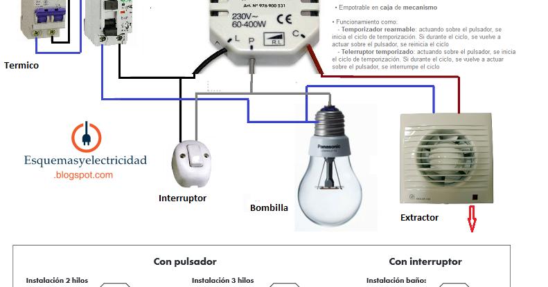 Temporizador electronico especial ba o esquemas el ctricos for Artefactos electricos para banos