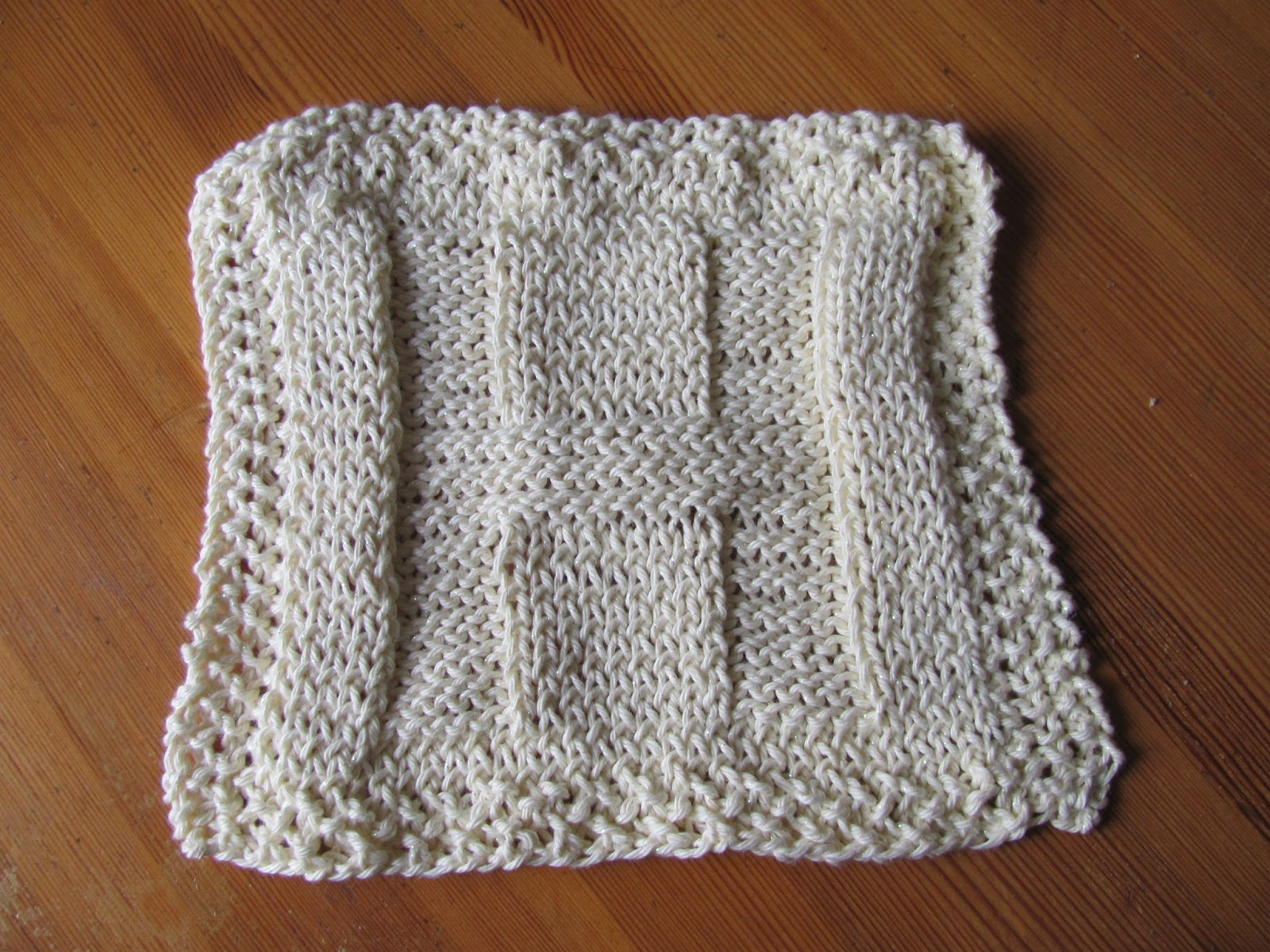 Washcloth knitted for our Dublin kitchen