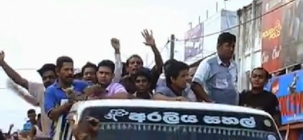 Maithri's Brother Dudley Sirisena's Lorry Attacked In Marandagahamula