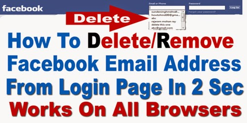 How to delete facebook email address login history hindiurdu 2015 ccuart Image collections