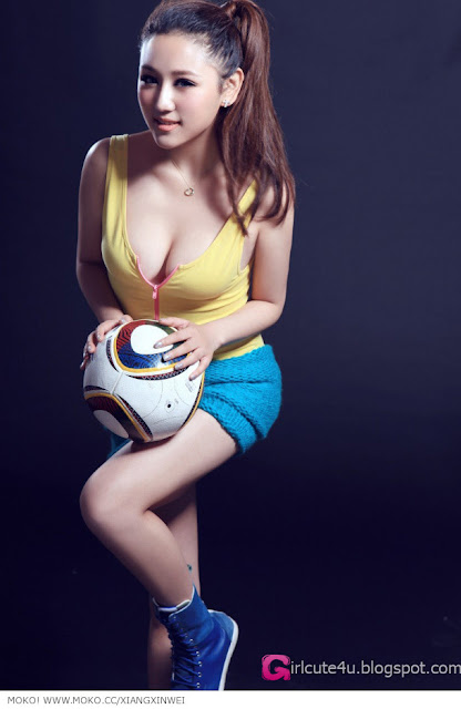 6 To Xinwei - Football Baby-very cute asian girl-girlcute4u.blogspot.com