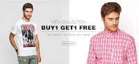 Buy 1 get 1 free on both men & women collection at stating price Rs 699 for women and 999 for men:buytoearn