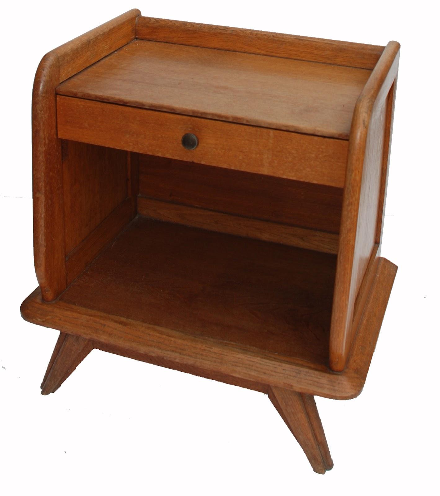 bo vintage chevet ann es 50 60 pieds compas 1 tiroir. Black Bedroom Furniture Sets. Home Design Ideas
