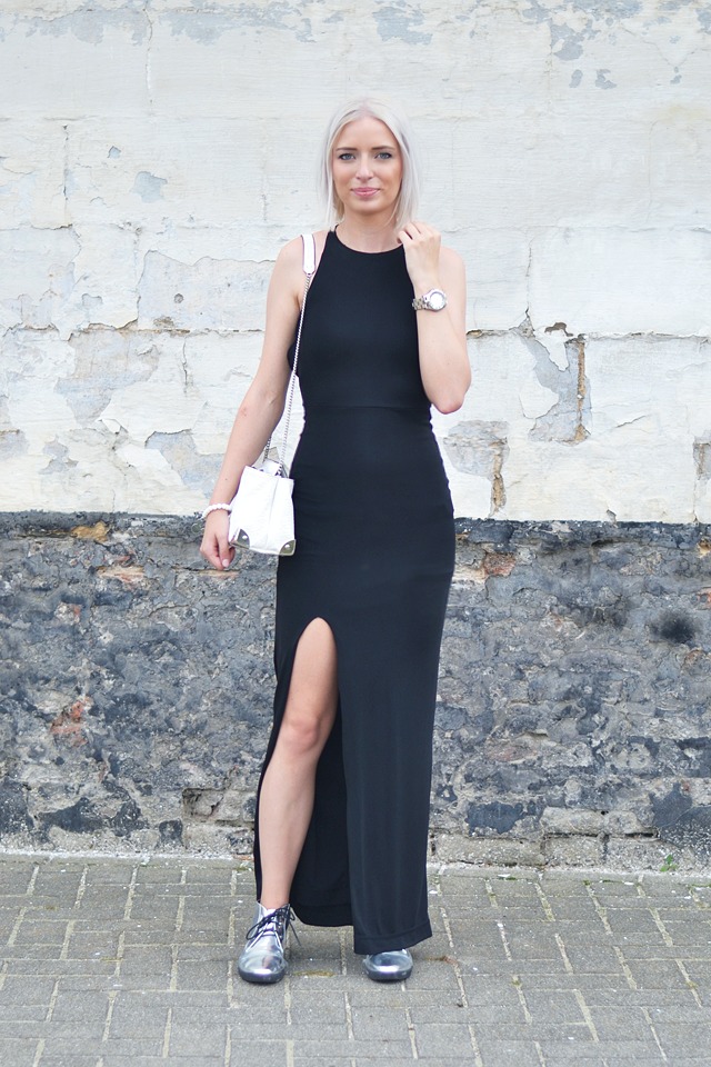 Turn it inside out: Black maxi dress