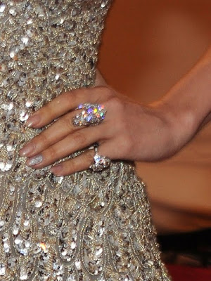 Jennifer Lopez Diamond Cocktail Ring