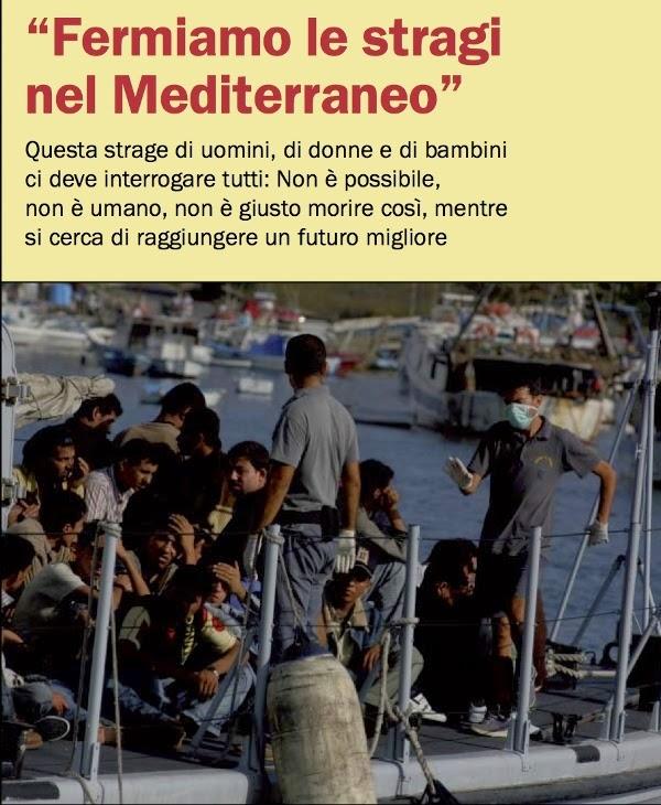 FERMIAMO LE STRAGI NEL MEDITERRANEO E LA POLITICA DELLA MILITARIZZAZIONE