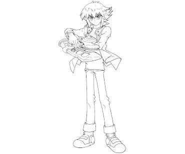 #4 Jaden Yuki Coloring Page