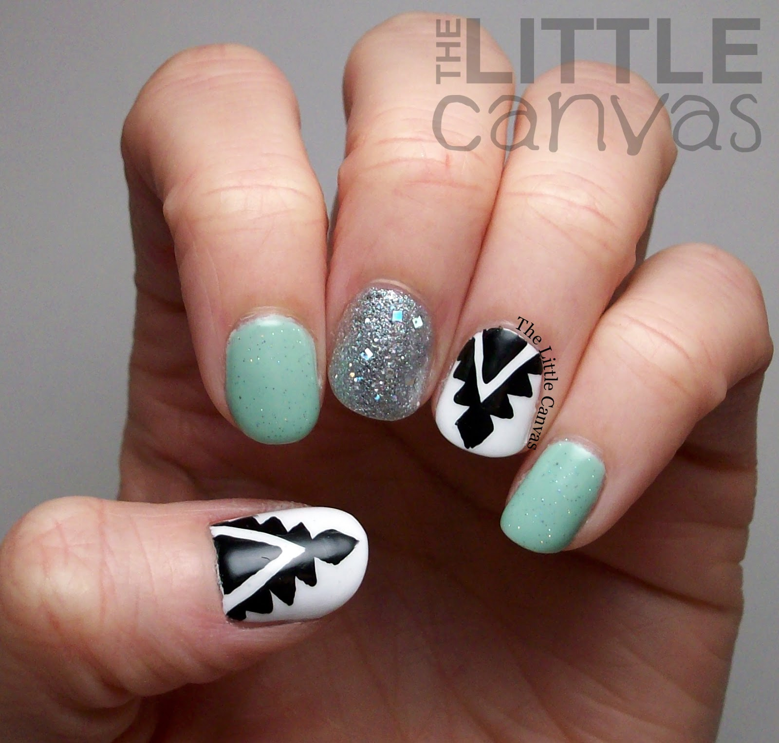 Aztec Nails Inspired By One Nail To Rule Them All The Little Canvas