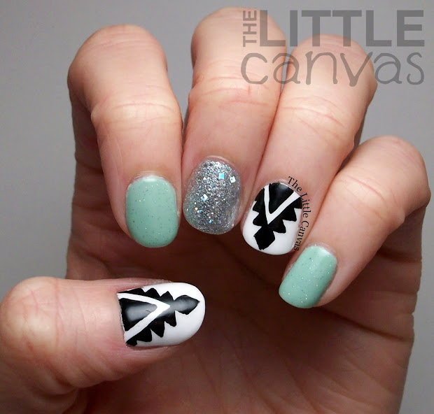 aztec nails inspired nail
