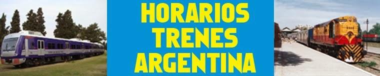 HORARIOS TRENES ARGENTINA