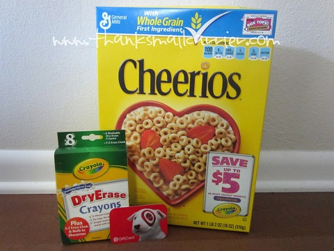 Cheerios Crayola prize pack