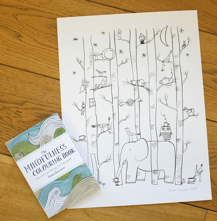Mindfulness Colouring Book Uk Un Petit Blog By Emma Farrarons THE MINDFULNESS COLOURING BOOK