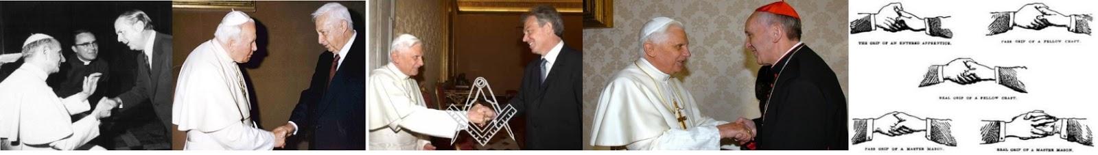 Le pouvoir occulte du Vatican, participation secrète avec les régimes totalitaires. - Page 8 Poignés+maçonniques+papes