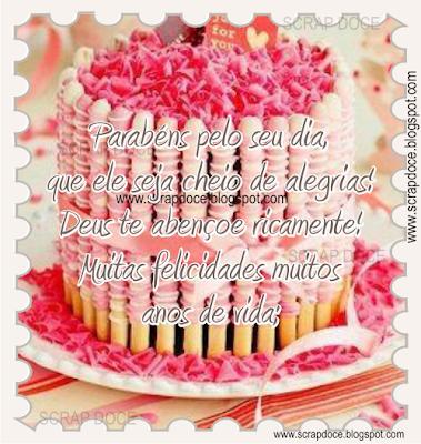 Recadinho de Aniversário para compartilhar no Facebook e Orkut