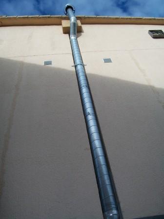 Conductos para salida de gases chimeneas tubos de acero - Estufas sin salida de humos ...