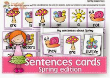 Spring themed sentences
