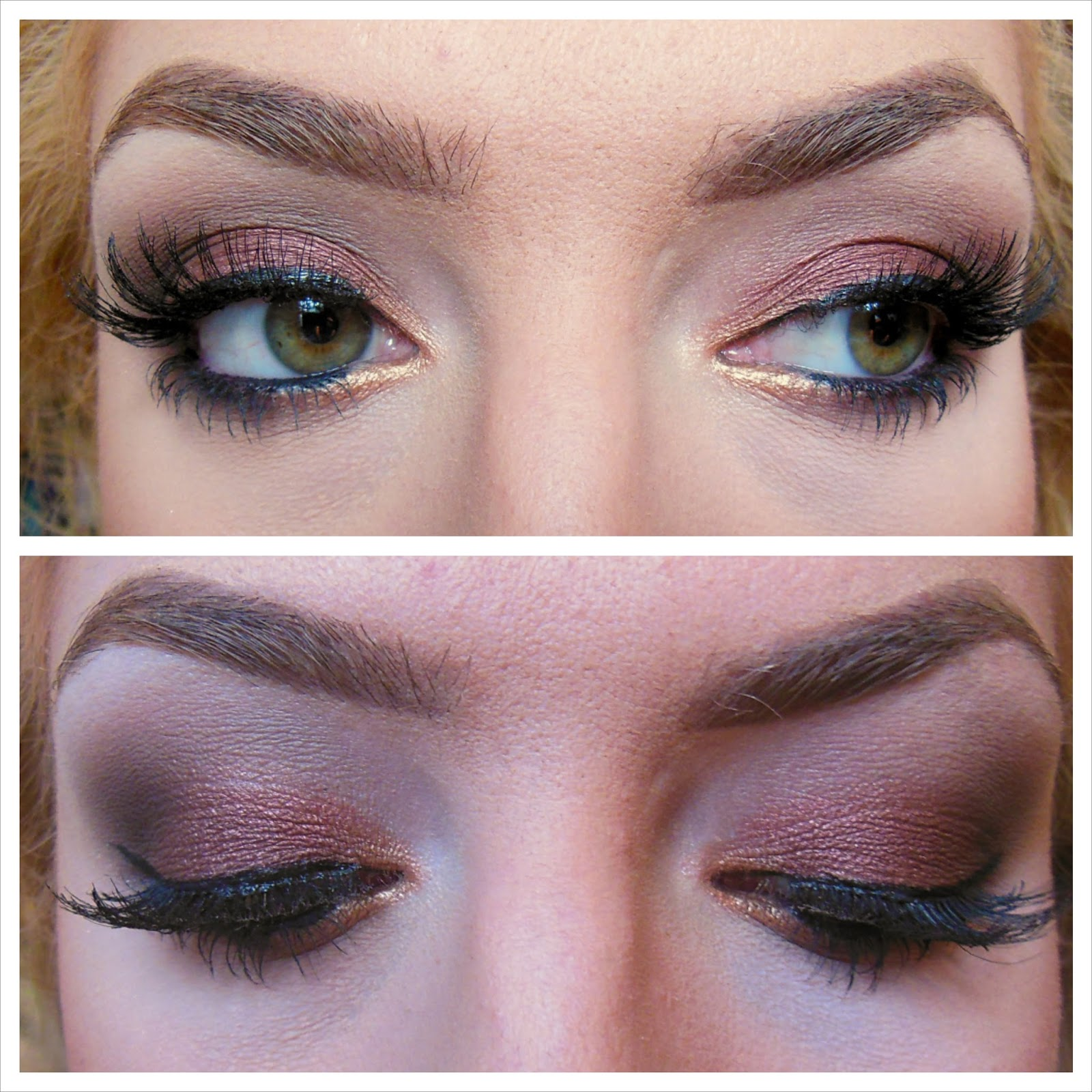 Cosmetic Queen Blog: How To: Rose Gold/Brown Smokey Eye