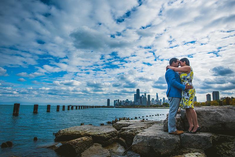 Chicago creative Wedding Engagement Photo