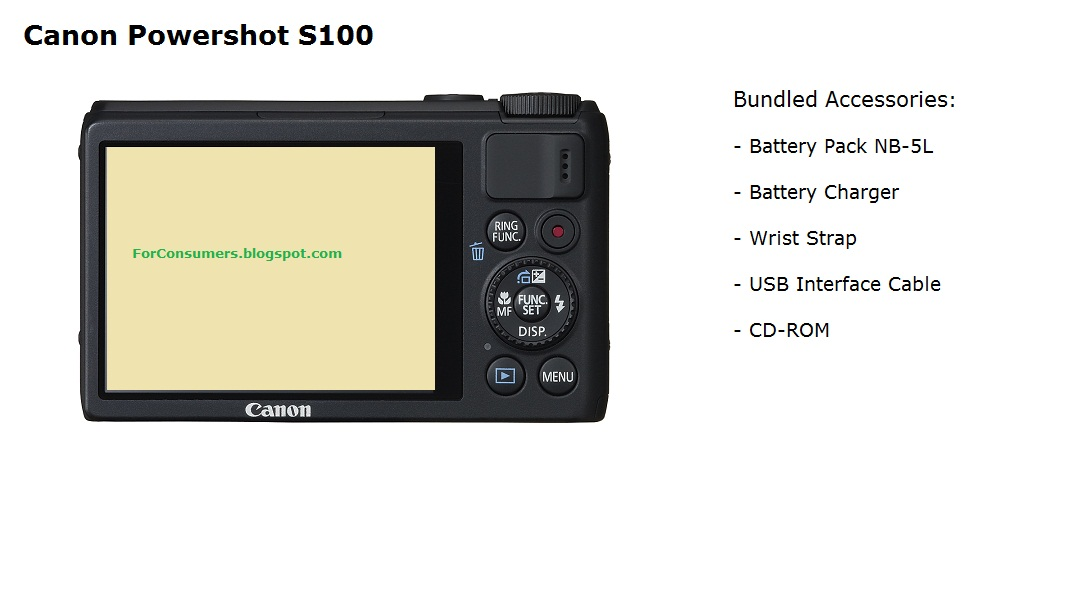 Canon powershot s100 features and specs test and review canon powershot s100 sciox Images