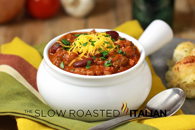 The Slow Roasted Italian - Printable Recipes: Simple Crock Pot Chili