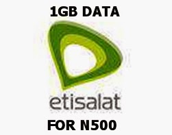 New Etisalat 1GB data plan for N500