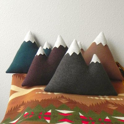 Ma Bicyclette: Buy Handmade | Christmas Gift Guide For Him - Mountain Cushion