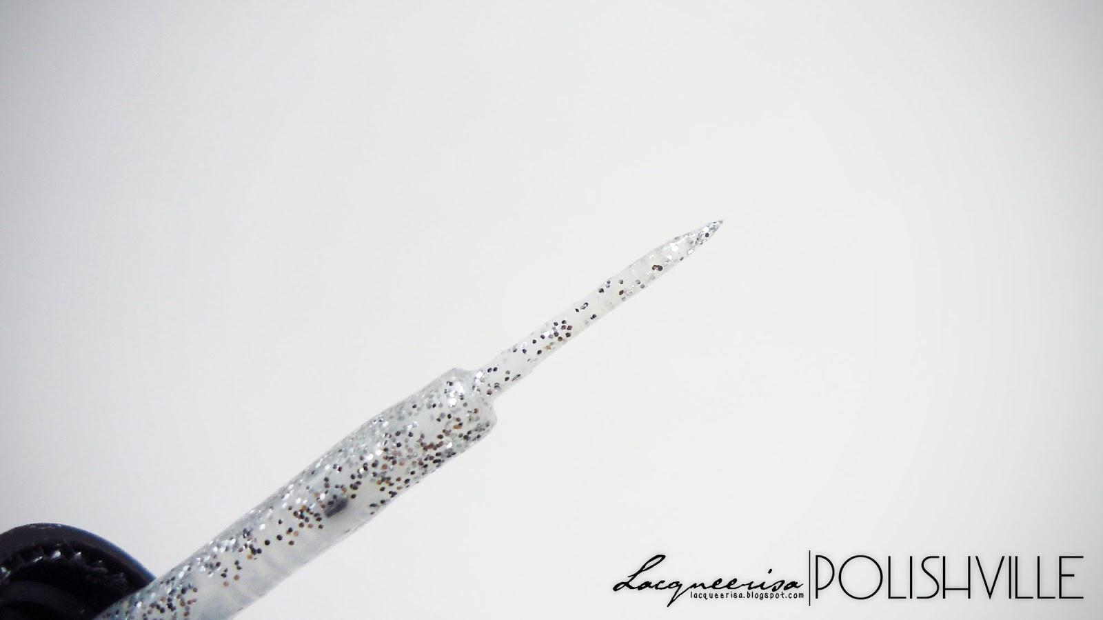 LacqueerisaXPolishville: Enamel Art 1000 Silver Glitter