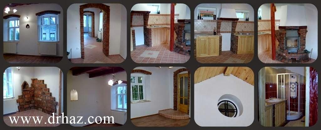 rusztikus régi ház felújítása - belső képek