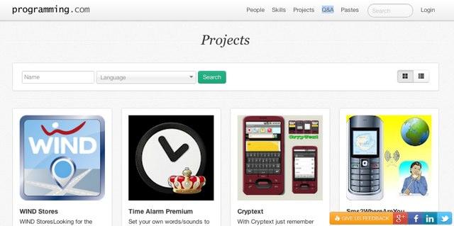 Programming.com, jejaring sosial programmer