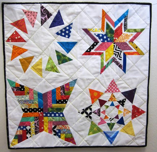 Paper-Pieced Sampler Mini Quilt