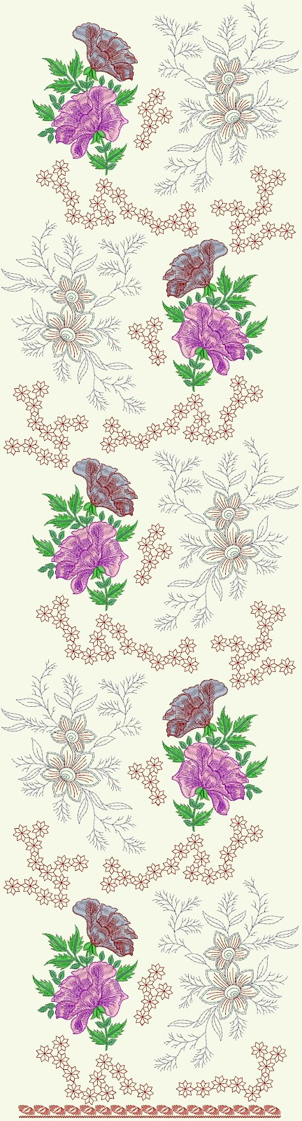 Embdesigntube Dress Embroidery Designs With Eyelet Stitch