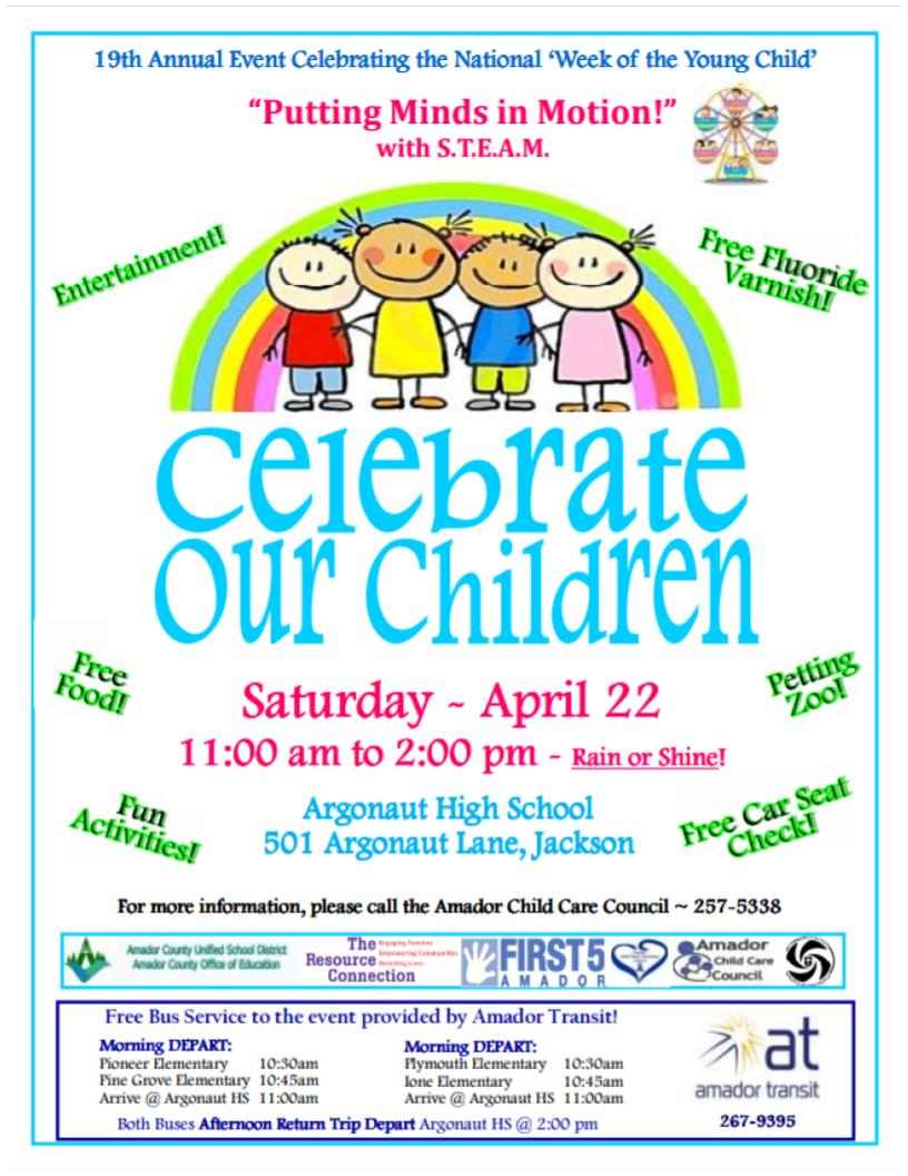 Celebrate Our Children! Sat Apr 22