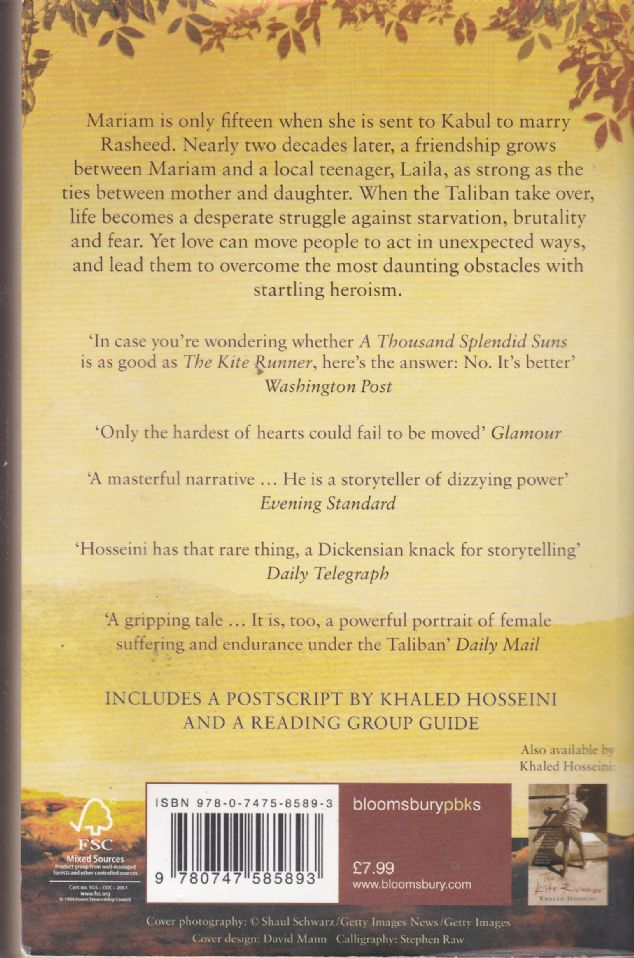 the crushed hopes of mariam and laila in a thousand splendid suns a novel by khaled hosseini Khaled hosseini returns with a thousand splendid suns is at once an incredible chronicle of thirty years of mariam and laila are two women brought.