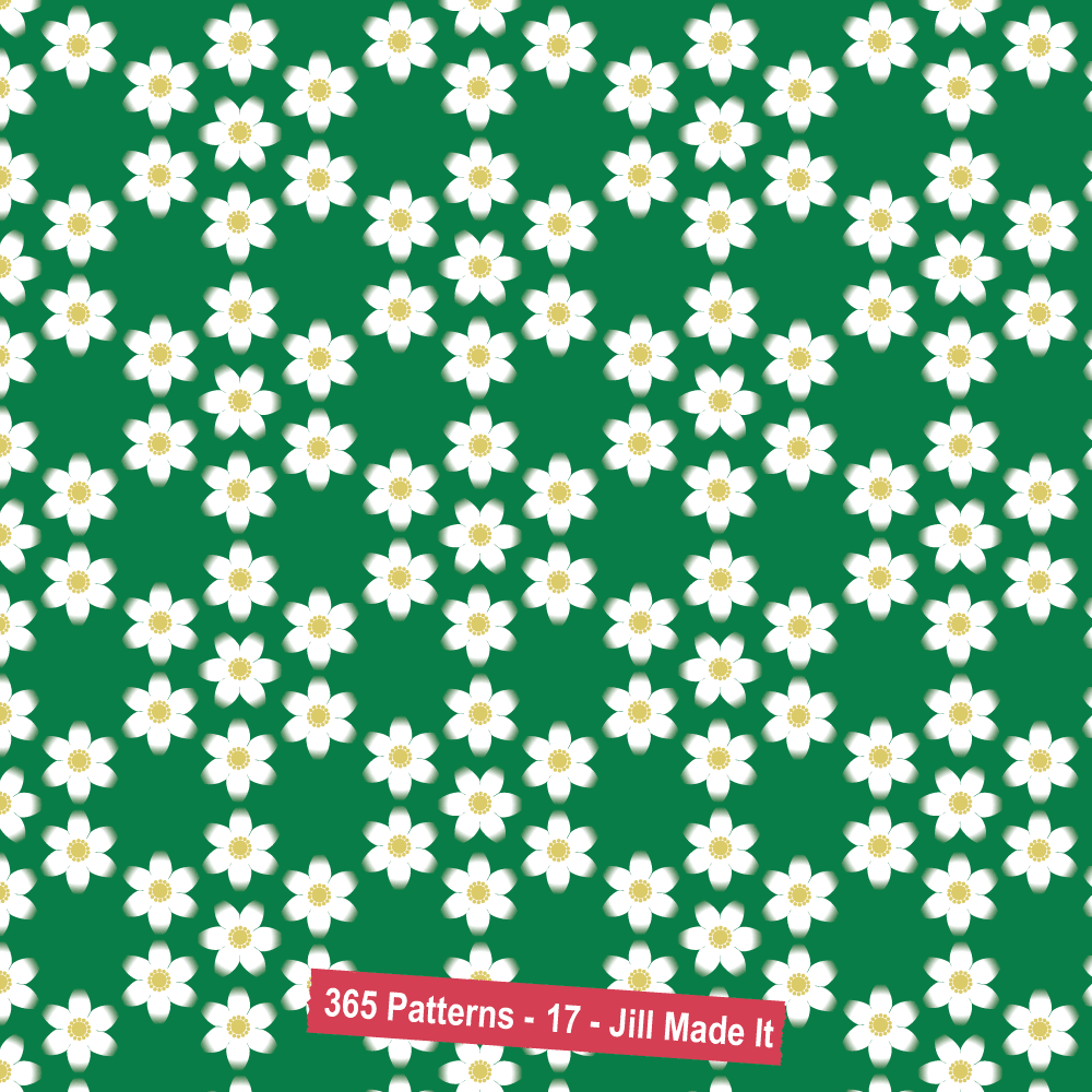 365 Patterns:  Strawberry Blossoms
