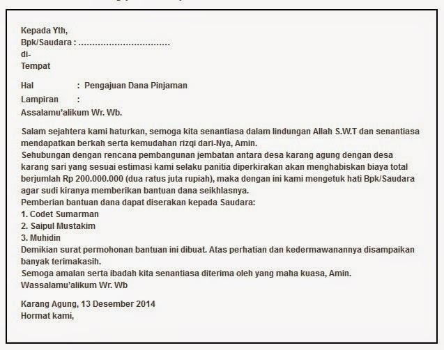 Contoh Surat Permohonan Bantuan Dana 2018 Mei 2018