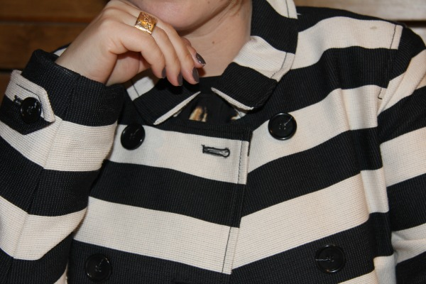 Corded Dobby Striped Trench from Loft