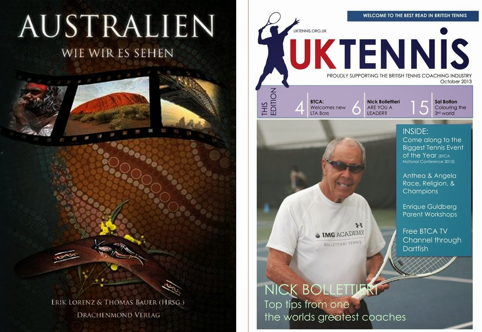 Contributing Writer of Travel Story Book and UK Tennis Magazine