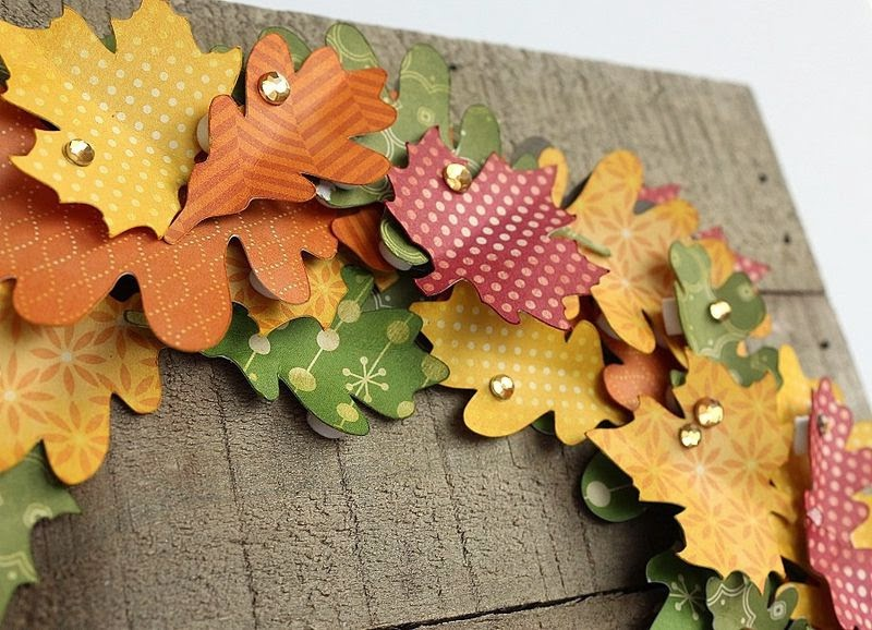 Hampton Art Blog Fall Wreath On Wood Plank Frame By