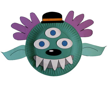 Paper Plate Alien Monster Craft