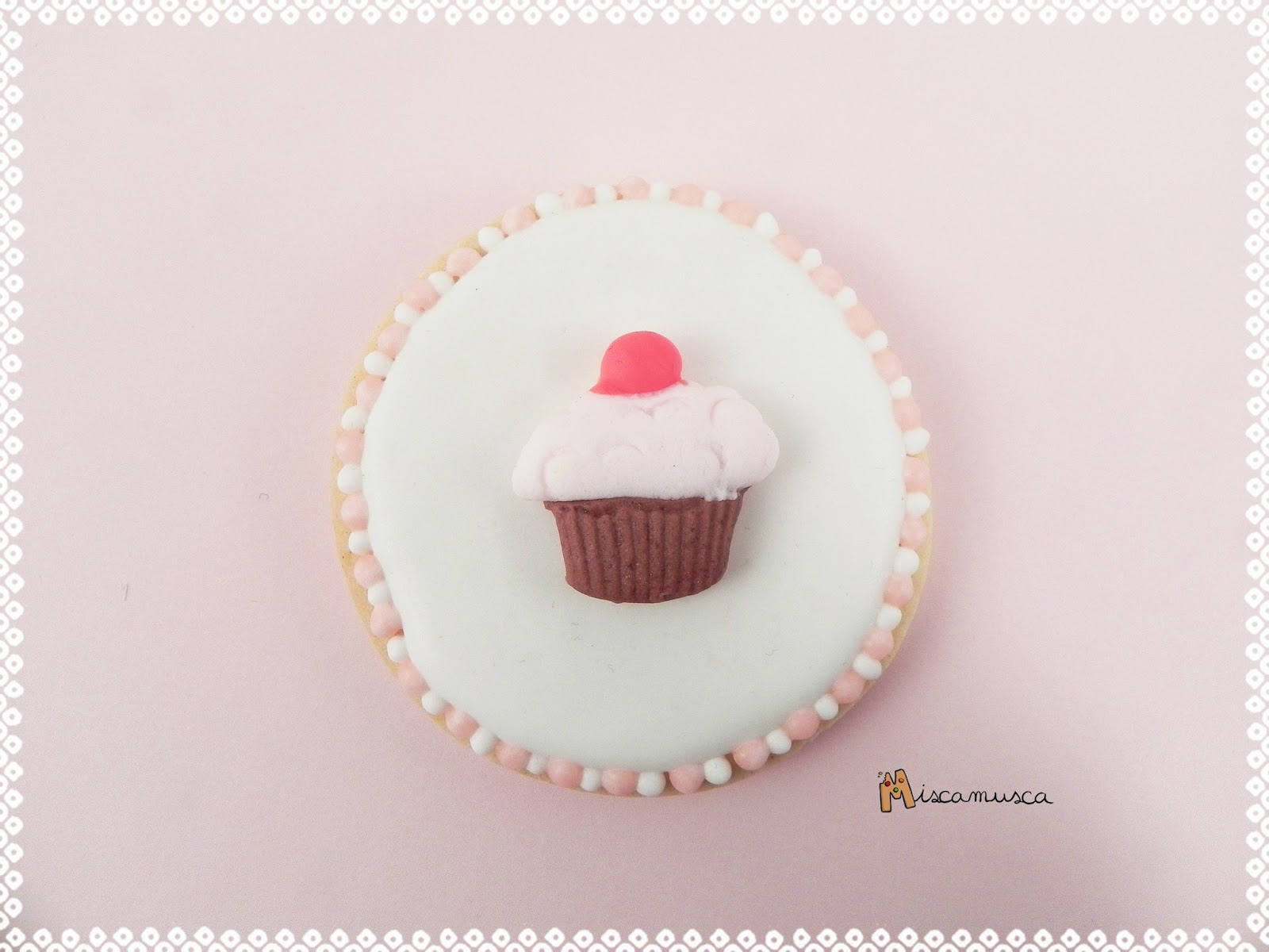 galleta cupcake fondant