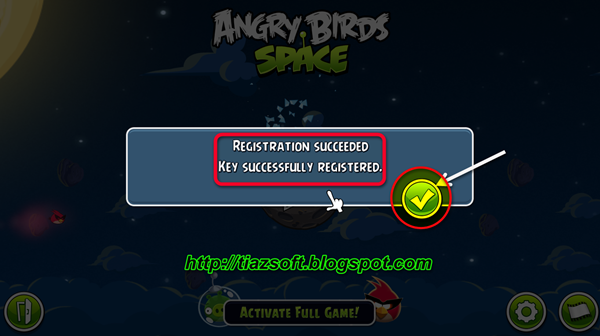 rovio angry birds space registration key