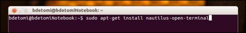 Ubuntu - Abrir num terminal com o mouse