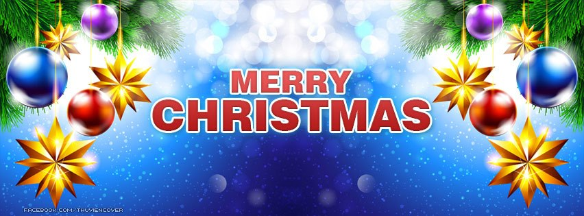 Merry Christmas With Blue Snow Flake Fb Profile Cover Facebook Cover: Facebook Covers, Christmas