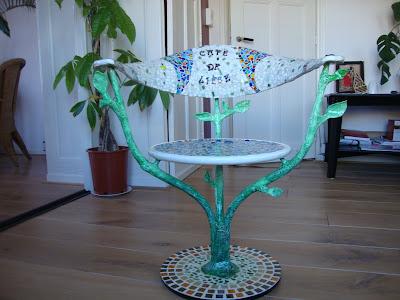 Chaise mosaïque arbre