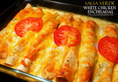 Salsa Verde White Chicken Enchiladas