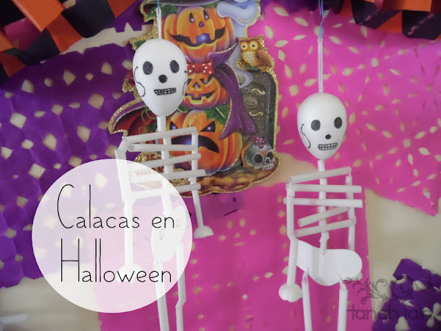 Calacas en Halloween