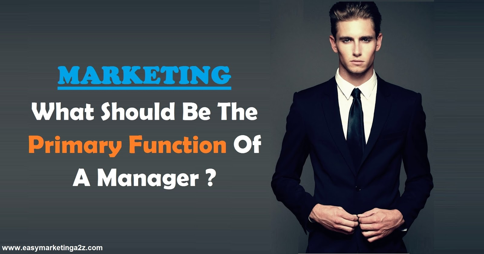Marketing Manager Primary Function