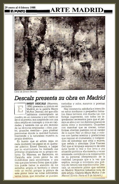 EL PUNTO-ARTES-PERIODICO-MADRID-PINTORES-ESPAÑA-ERNEST DESCALS-PINTOR
