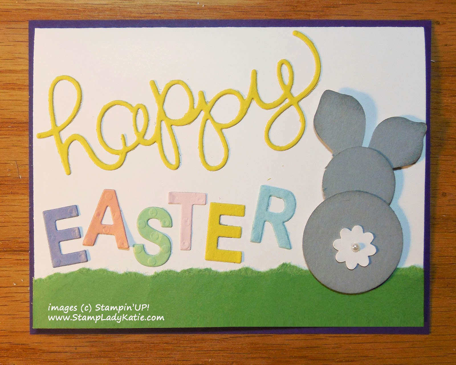 Easter Card made with Stampin'UP! Little Letters and Hello You Thinlet Dies
