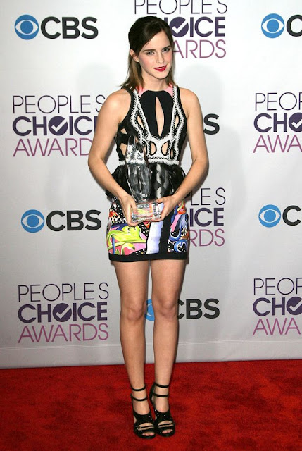 Emma Watson at The Peoples Choice Awards 2013